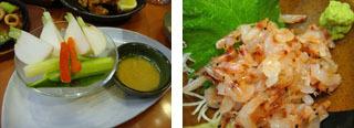 何とかサラダ・桜海老のお刺身